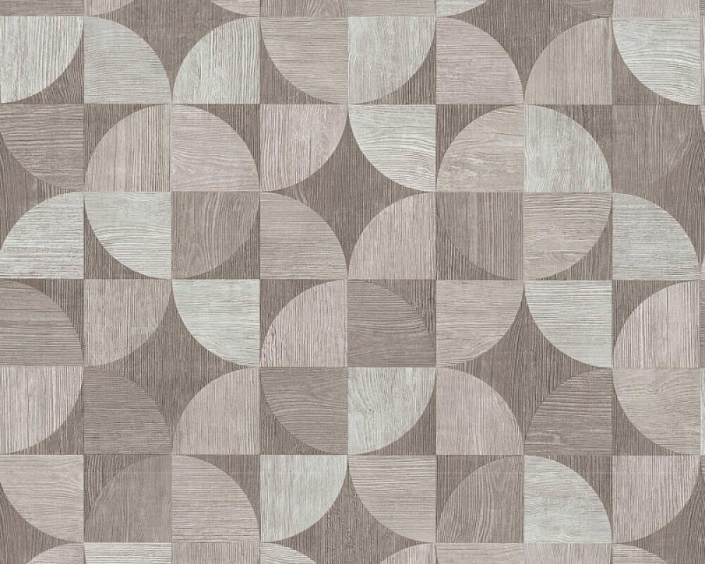 Livingwalls Tapete Holz, Grau, Weiß 369133