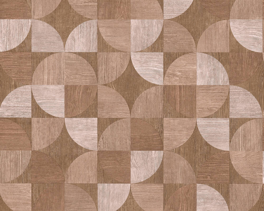 Livingwalls Wallpaper Wood, Beige, Brown, Red 369134
