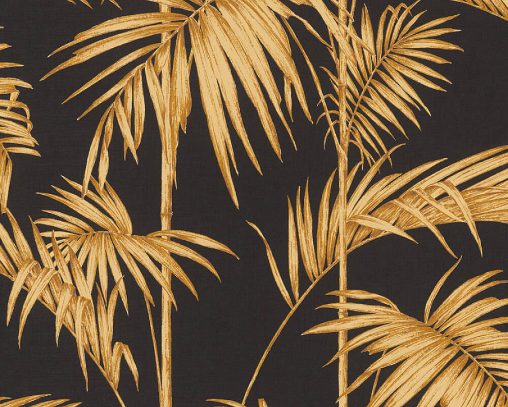 Livingwalls Tapete Dschungel, Braun, Gold, Metallics, Orange 369195