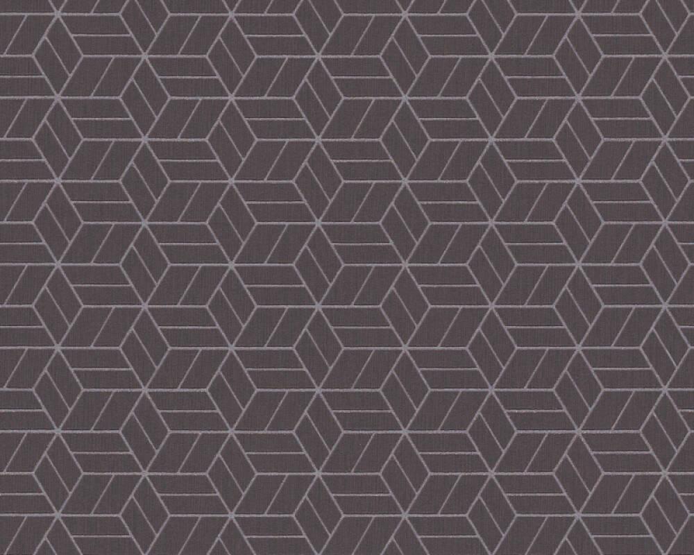 Livingwalls papier peint Graphique, 3D, marron, métallique 369201