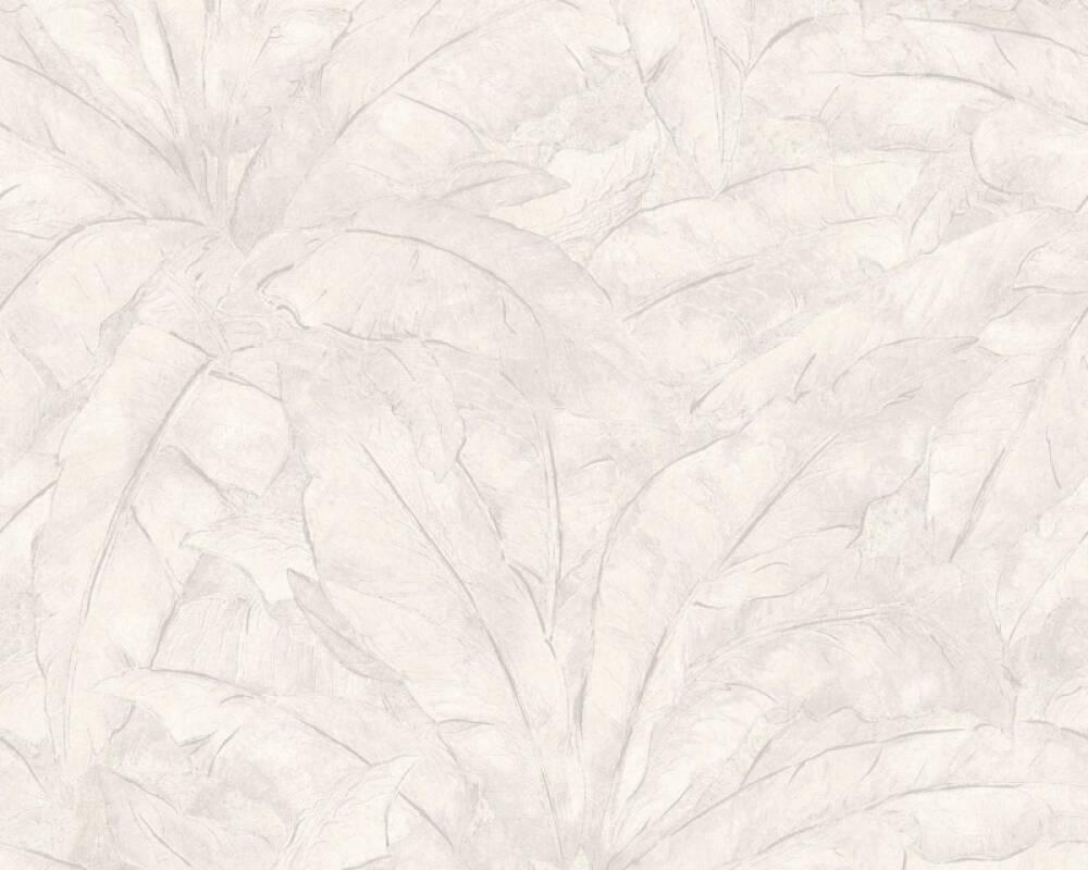 Livingwalls Tapete Dschungel, Grau, Metallics, Silber, Weiß 369274