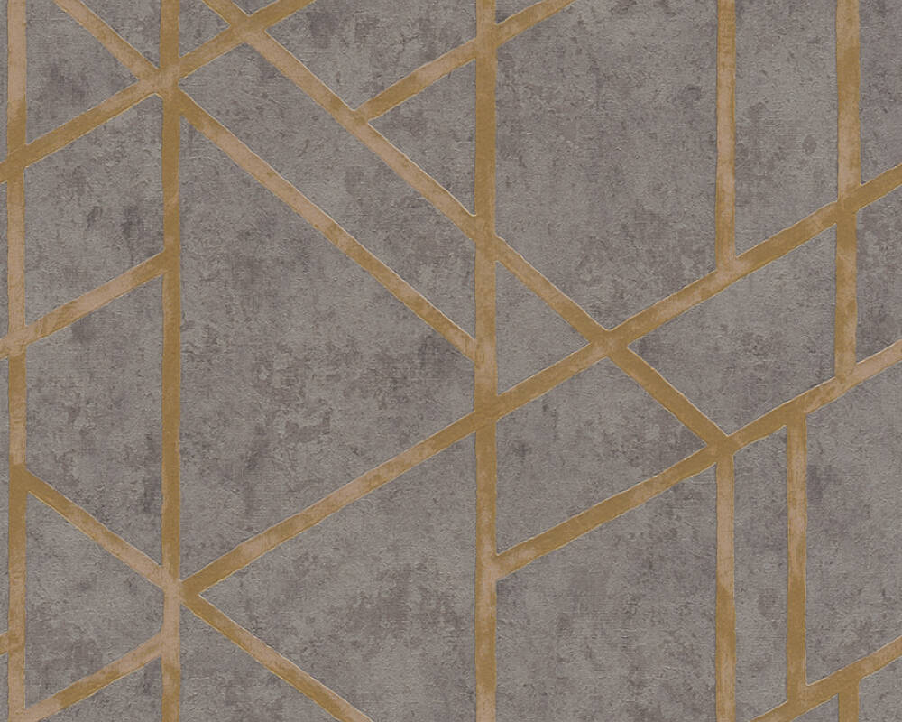 Livingwalls Wallpaper Graphics, Gold, Grey, Metallic 369281