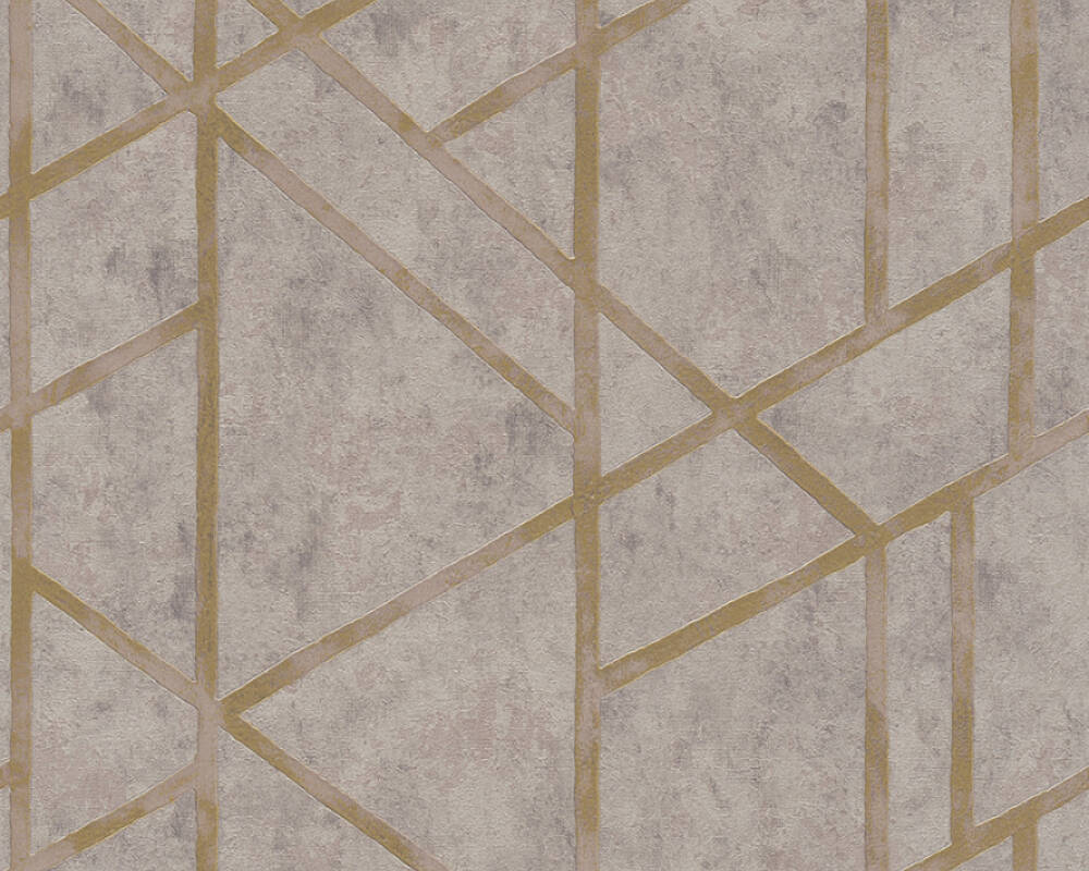 Livingwalls Wallpaper Graphics, Beige, Gold, Grey, Metallic 369283