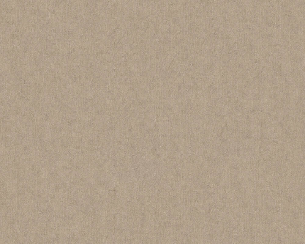 A.S. Création Wallpaper Uni, Brown, Cream 369388