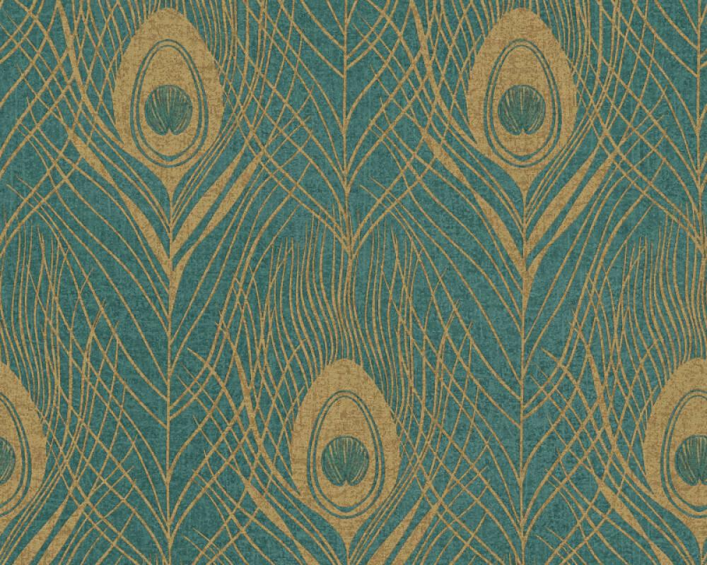 Architects Paper papier peint Graphique, jaune, marron, métallique, or 369714