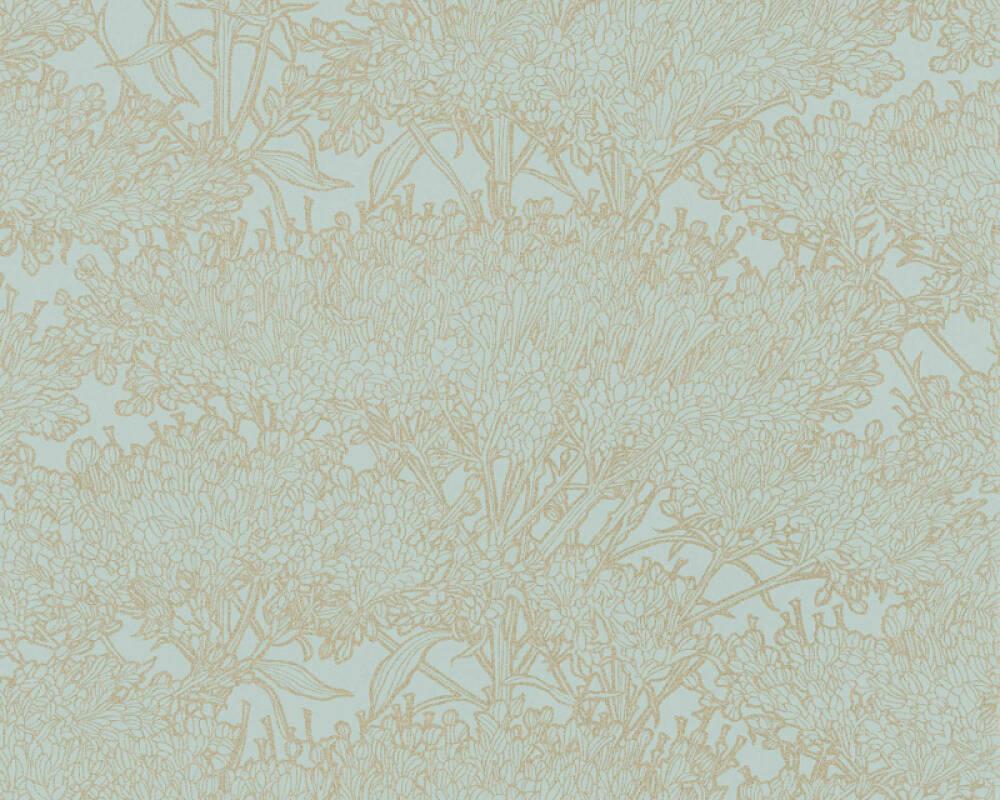 Architects Paper Tapete Floral, Blau, Gold, Grün, Metallics 369722