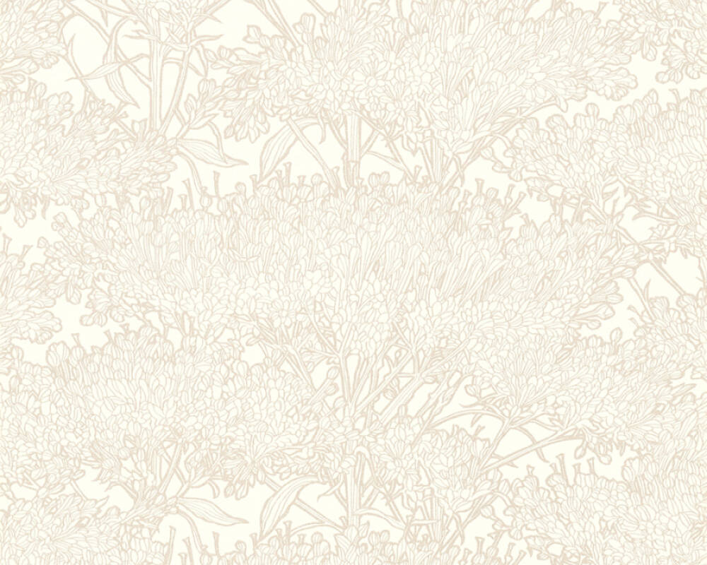 Architects Paper Wallpaper Floral, Cream, Grey, Metallic, Taupe 369727