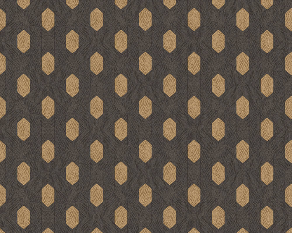 Architects Paper Wallpaper Graphics, Black, Brown, Metallic 369735