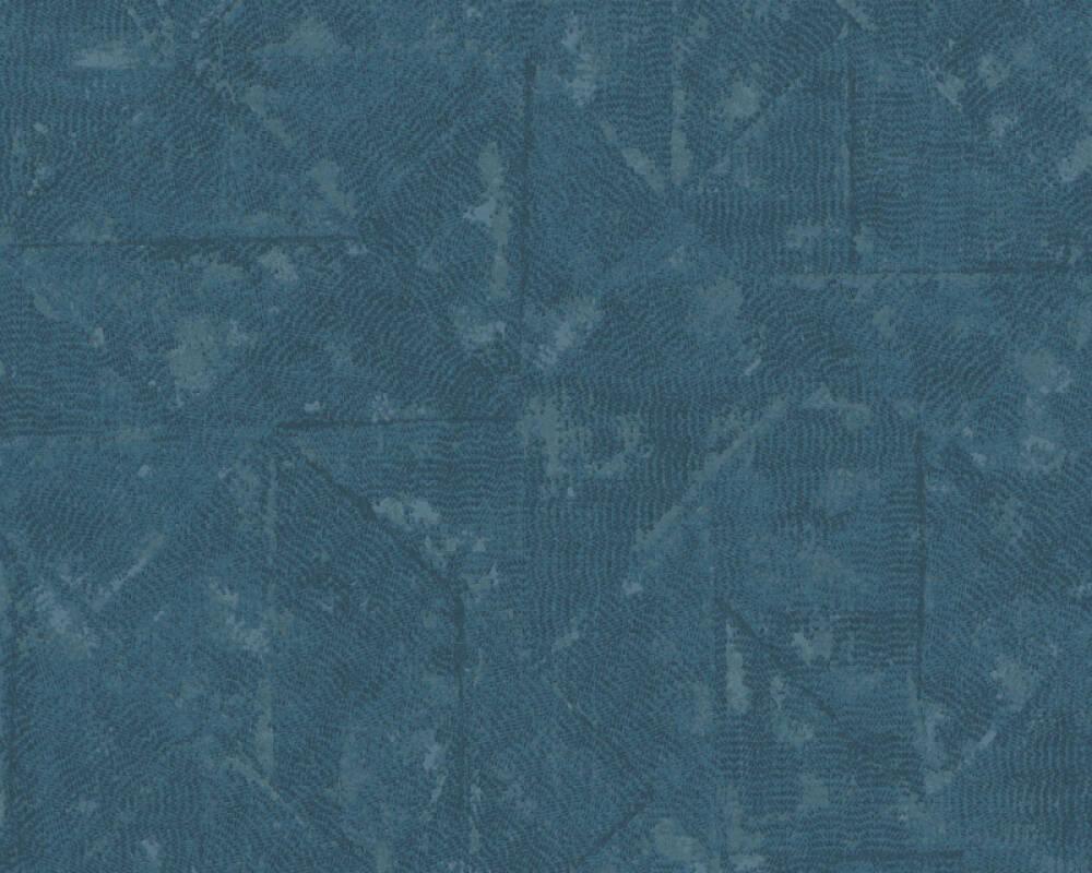 Architects Paper Tapete Uni, Blau, Grau, Metallics, Silber 369751