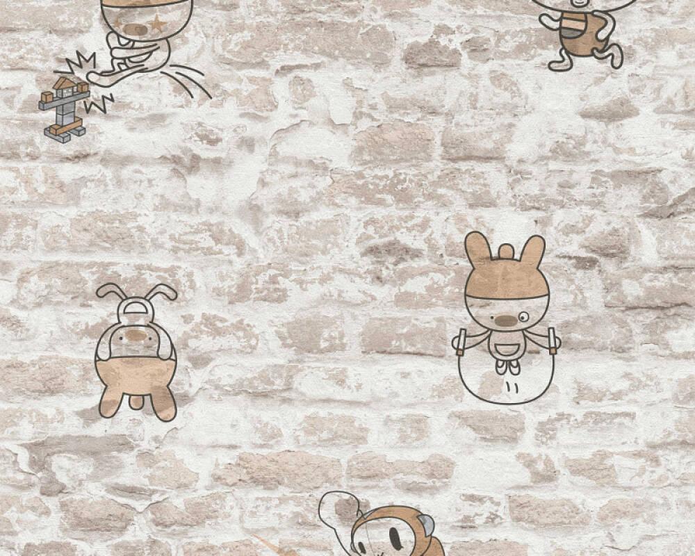 A.S. Création Обои Детский мотив, Под камень, Бежевые, Серыe, Черные 369873