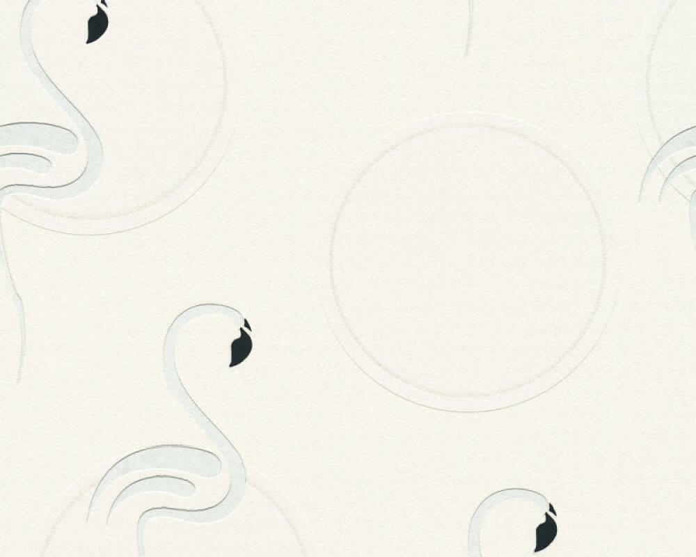 A.S. Création Wallpaper Child motif, Black, Metallic, Silver, White 369981