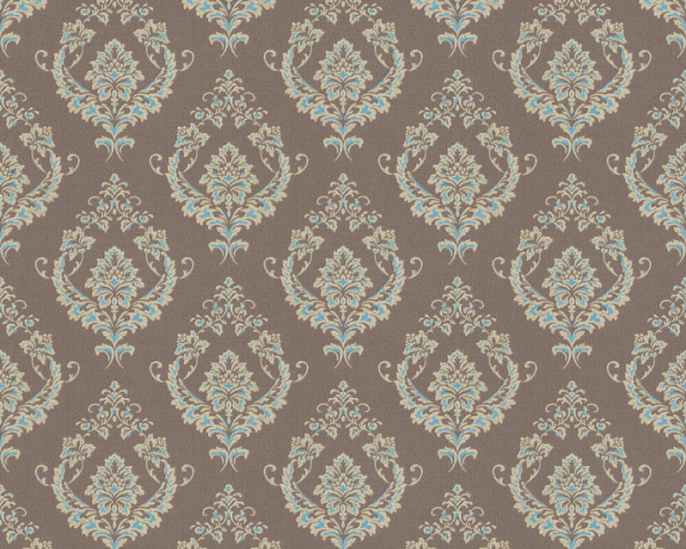A.S. Création Wallpaper Baroque, Blue, Brown, Gold, Green 370003