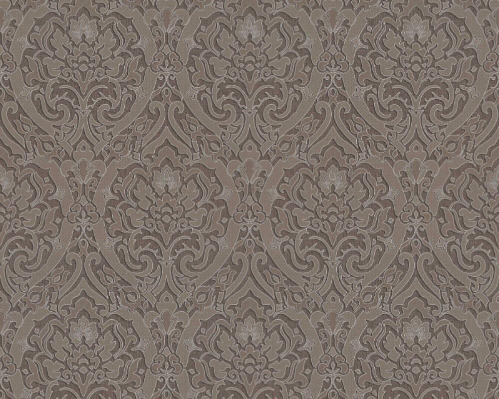 A.S. Création Обои Барокко, 3D, Коричневыe, Металлик, Серебро 370026