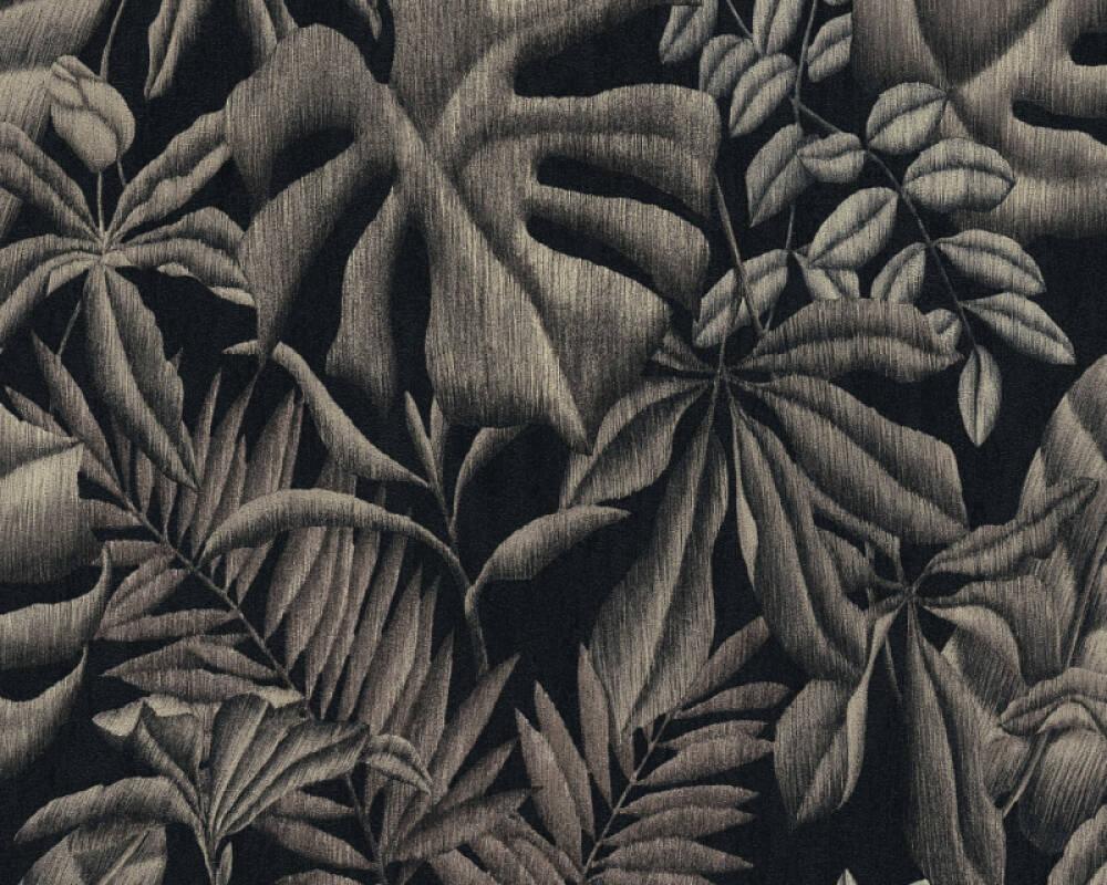 A.S. Création papier peint Jungle, gris, noir 370332