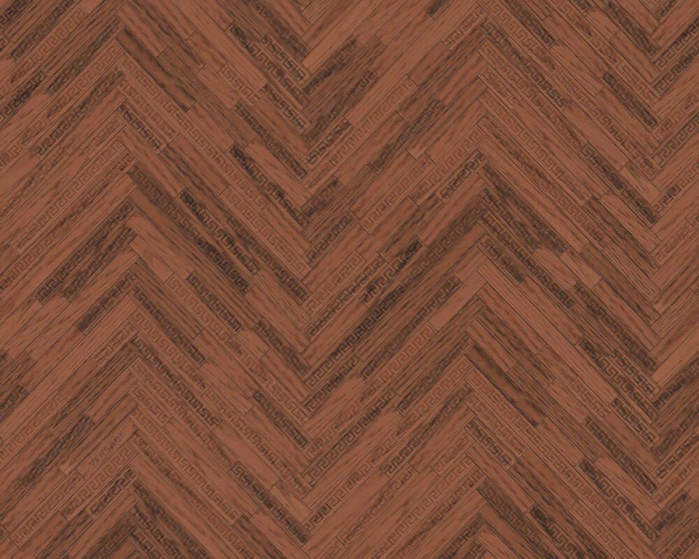 Versace Home papier peint Bois, Maison, bronze, marron, métallique 370513