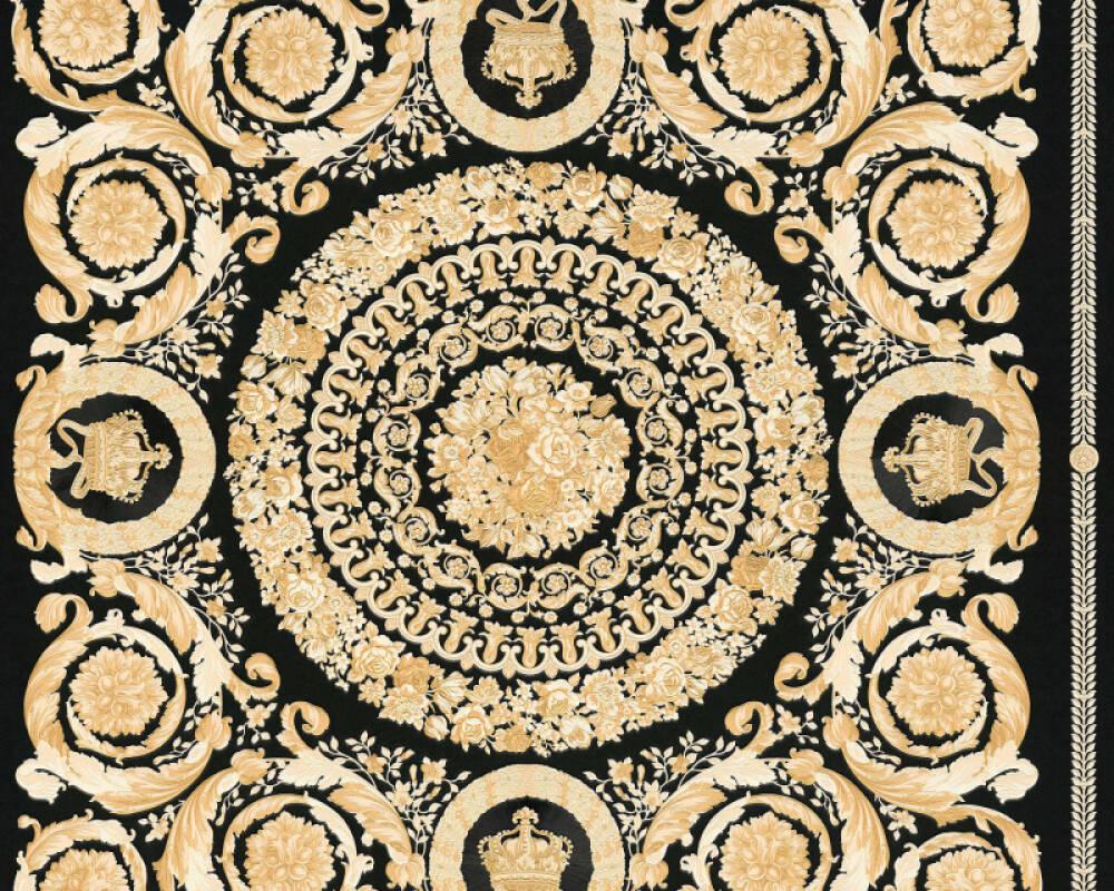Versace Home Wallpaper Baroque Beige Black Cream Gold