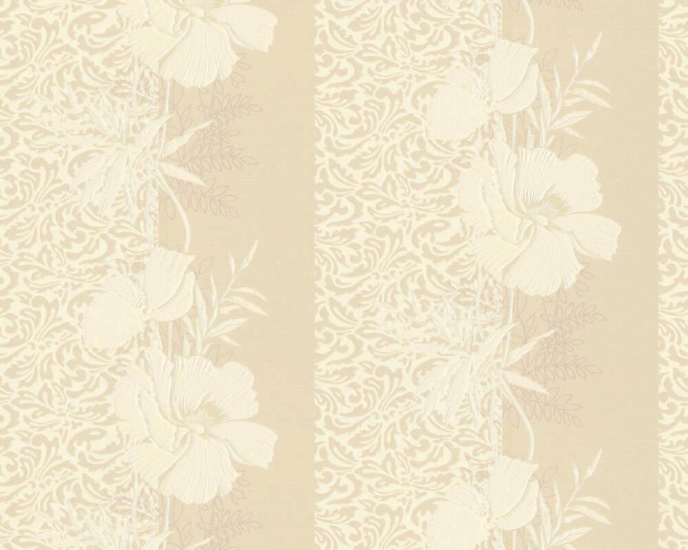 A.S. Création papier peint Baroque, Floral, beige, crème 370709
