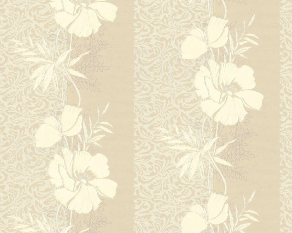 A.S. Création papier peint Baroque, Floral, beige, crème 370716