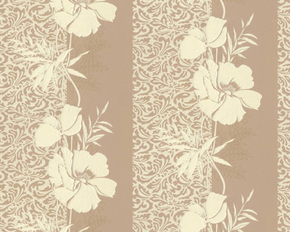 A.S. Création papier peint Baroque, Floral, beige, jaune 370723