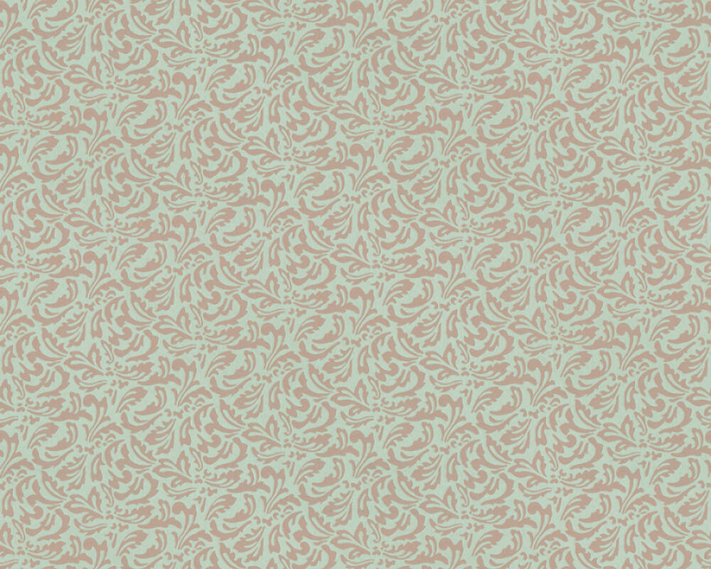 A.S. Création Wallpaper Baroque, Blue, Brown, Green, Turquoise 370839
