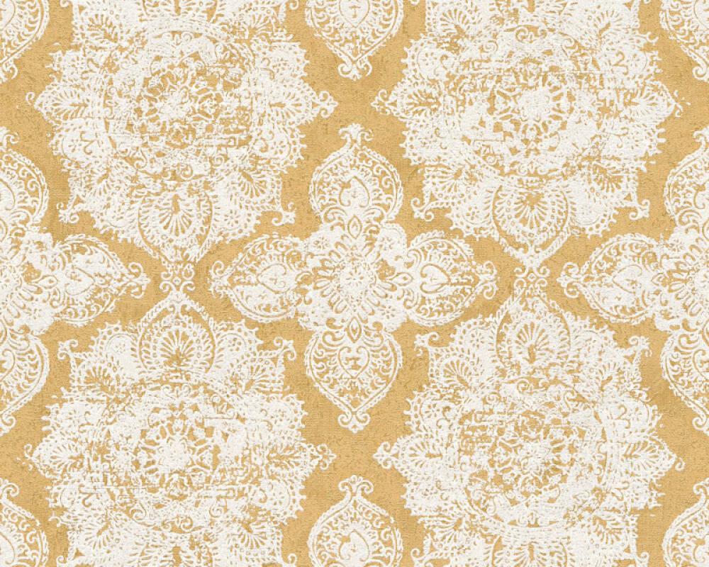 A.S. Création Wallpaper Baroque, Gold, Metallic, White 370901