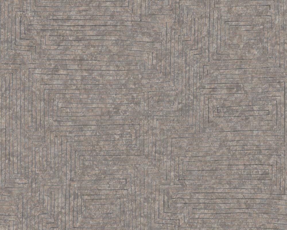A.S. Création Tapete Grafik, Beige, Braun, Grau, Silber 371711