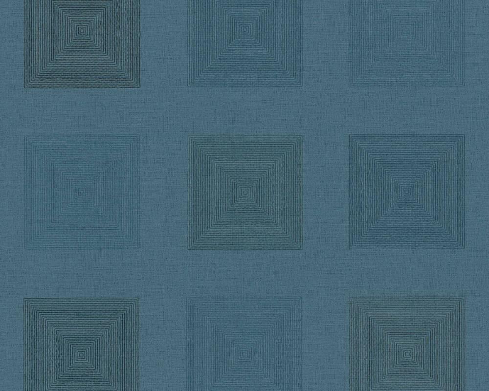 A.S. Création papier peint Graphique, Floral, bleu 371721