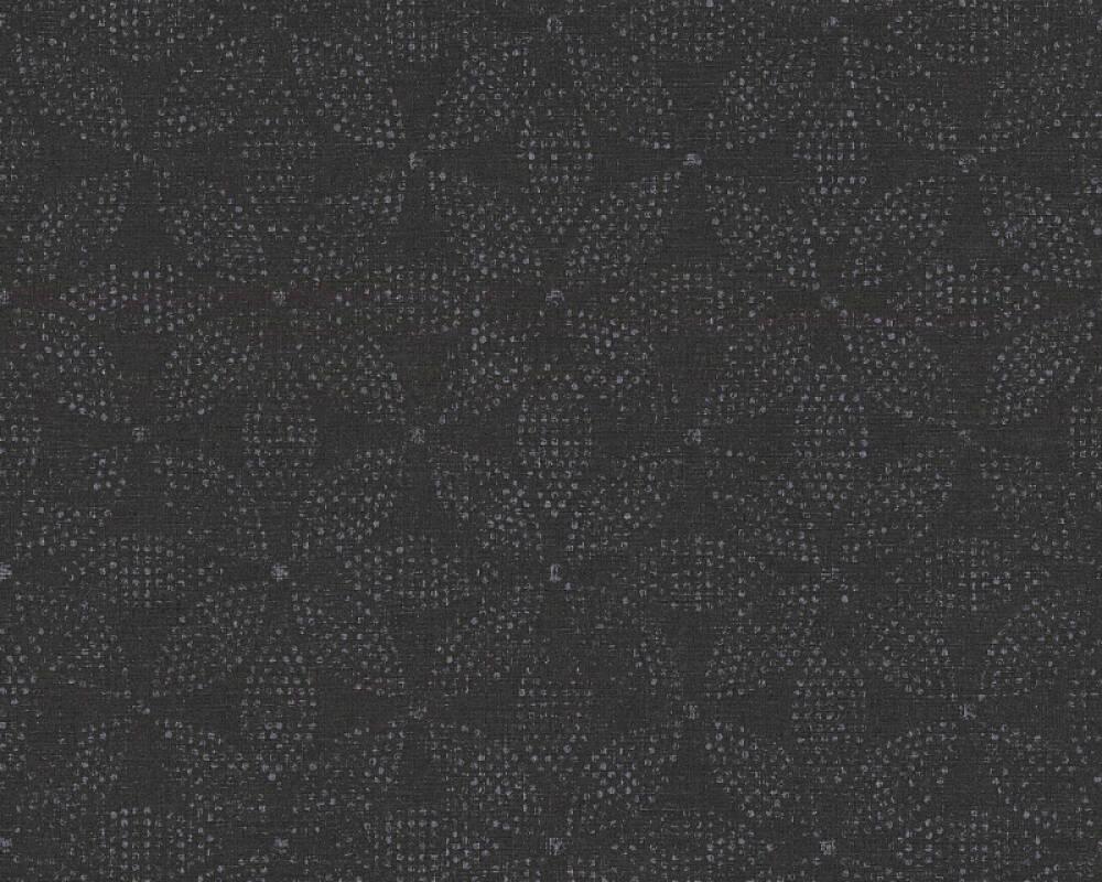 A.S. Création Tapete Grafik, Floral, Metallics, Schwarz, Silber 371763