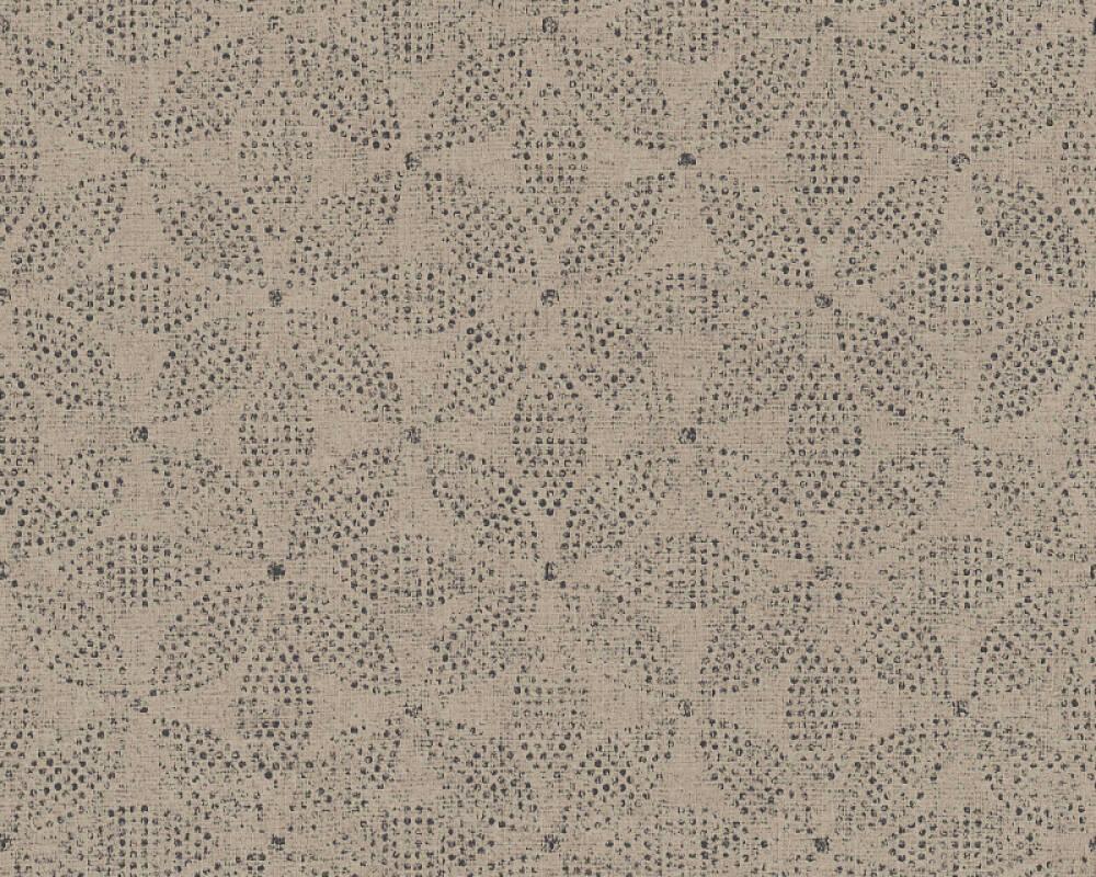A.S. Création papier peint Graphique, Floral, beige, gris, noir, taupe 371764