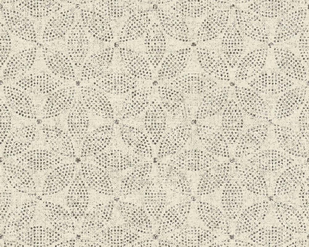 A.S. Création Tapete Grafik, Floral, Creme, Schwarz 371765