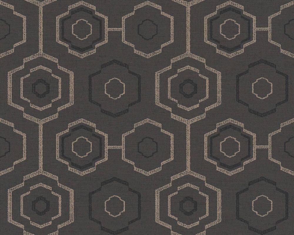 A.S. Création Tapete Grafik, Floral, Gold, Metallics, Schwarz 371774