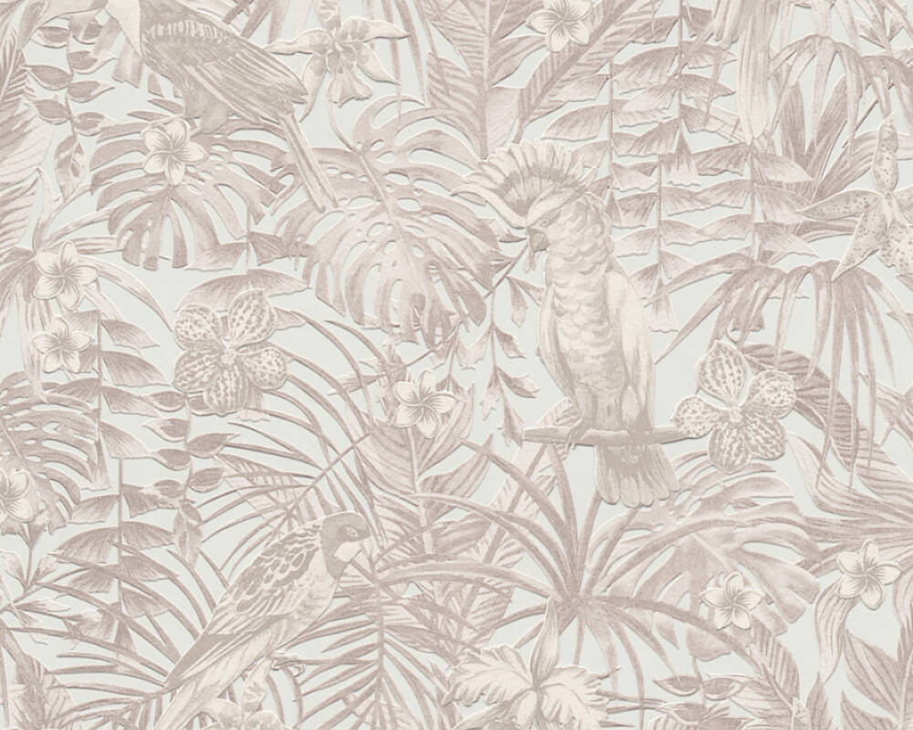 A.S. Création Wallpaper Jungle, Beige, Cream, Grey, Taupe 372102