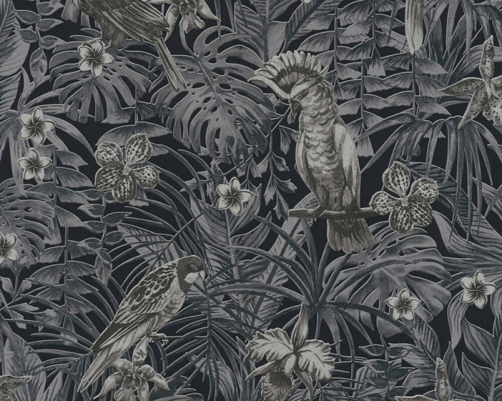 A.S. Création Tapete Dschungel, Creme, Grau, Schwarz 372104