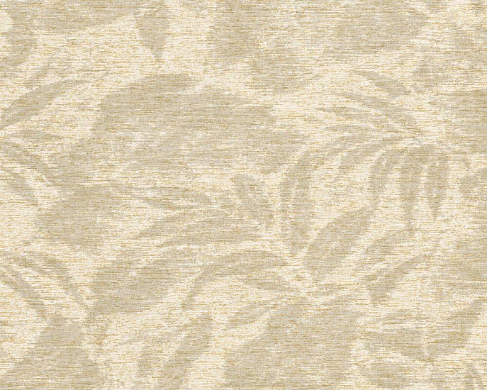 A.S. Création papier peint Floral, beige, crème, cuivre, métallique 372191