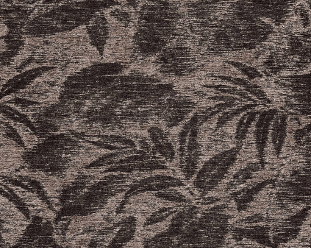 A.S. Création Wallpaper Floral, Black, Brown 372192