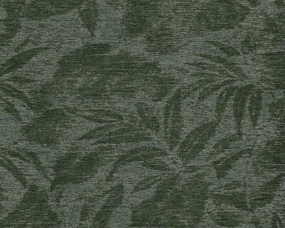 A.S. Création Wallpaper Floral, Black, Green 372193