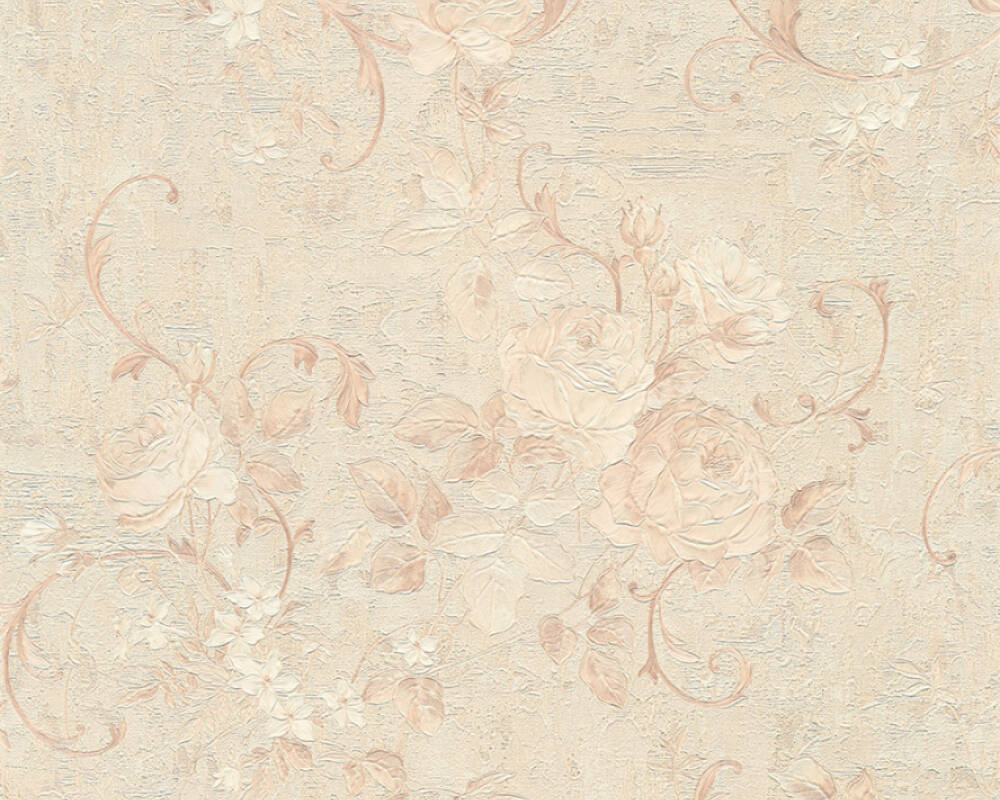 A S Creation Wallpaper Flowers Beige Brown Cream Gold 372242