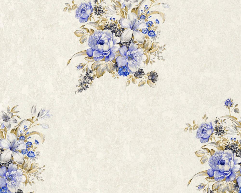 A.S. Création Обои Цветы, Коричневыe, Кремовые, Синие 372252