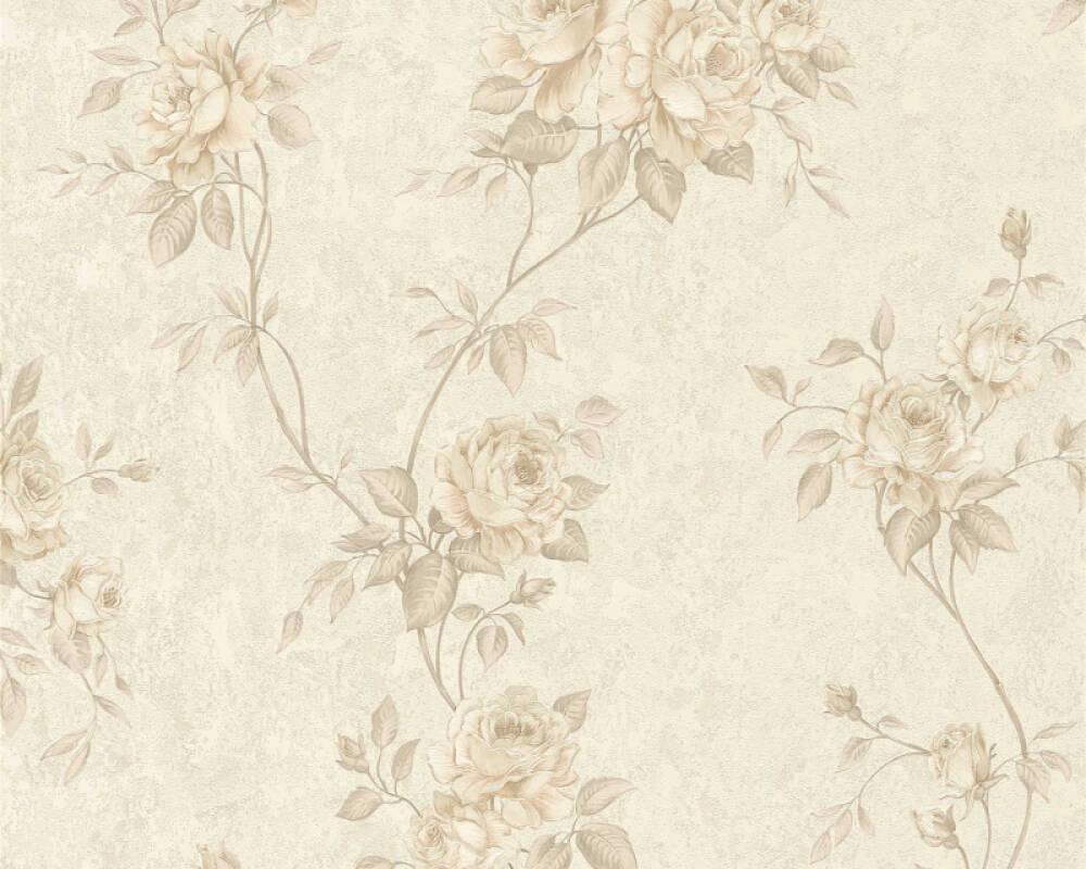 A.S. Création papier peint Fleurs, beige, crème, marron 372263