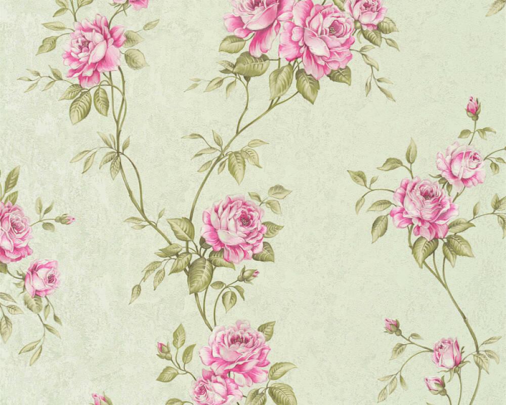 A S Creation Wallpaper Flowers Green Pink 372264