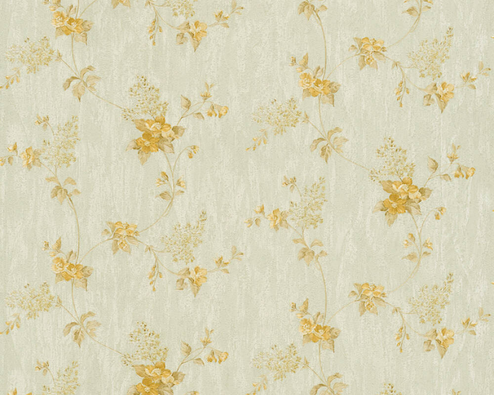 A S Creation Wallpaper Floral Green Orange 372505