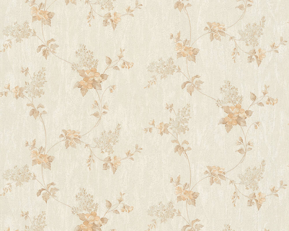 A.S. Création Tapete Floral, Beige, Creme, Weiß 372529