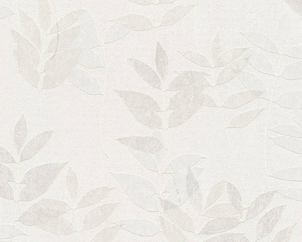 A.S. Création Wallpaper Floral, Beige, Grey, Taupe, White 372611