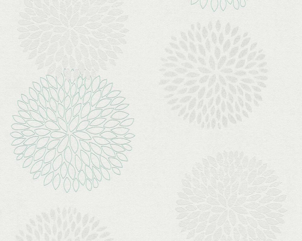 A.S. Création Tapete Floral, Grau, Grün, Weiß 372641