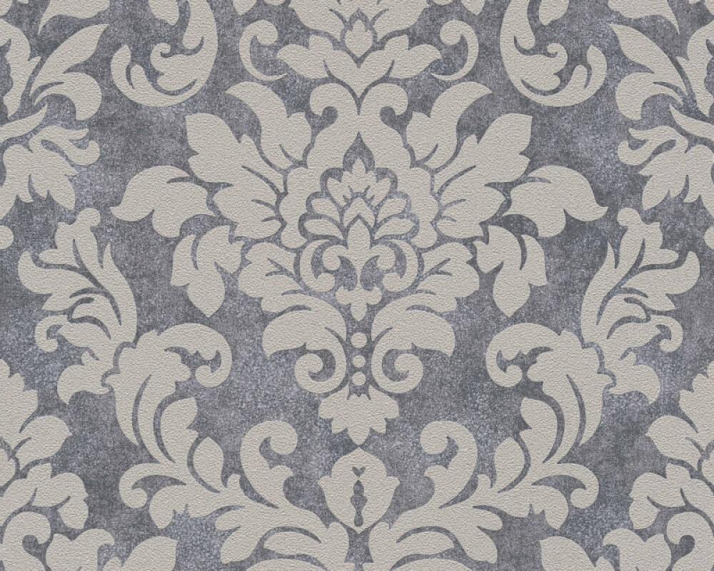 A.S. Création papier peint Baroque, beige, gris, métallique, taupe 372701