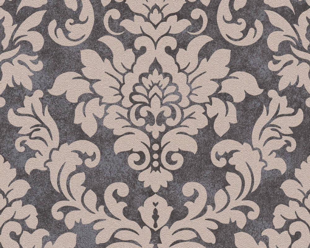 A.S. Création papier peint Baroque, beige, métallique, noir 372704
