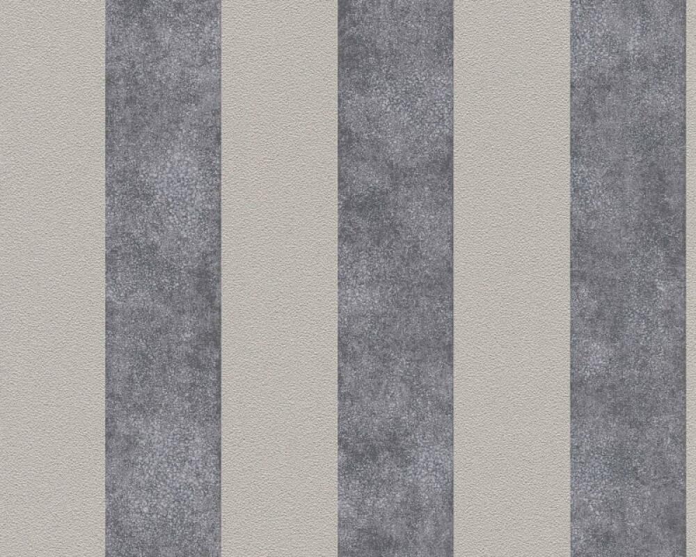 A.S. Création Обои Полосы, Бежевые, Серыe, Тёмно-серые, Черные 372711