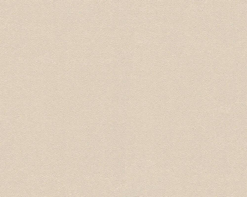 A.S. Création papier peint Uni, beige, crème, métallique 372724