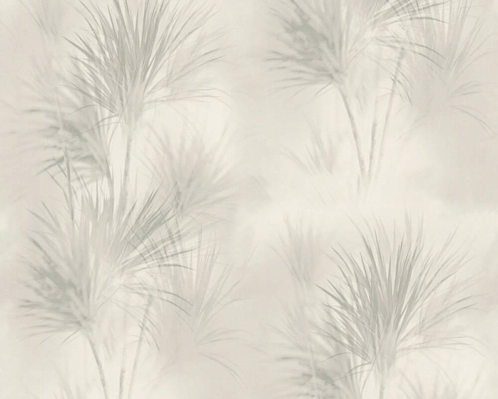 A.S. Création papier peint Maison, Floral, gris 372751