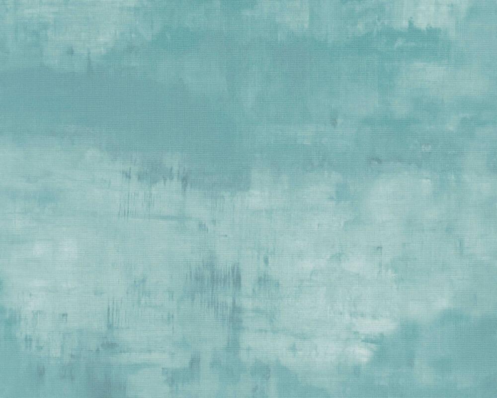 A.S. Création papier peint Uni, bleu 372784
